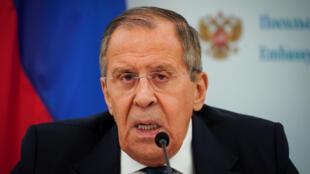 Le ministre des affaires étrangères russe, Sergueï Lavrov, le 10 décembre 2019.