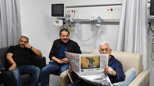 Mahmoud Abbas à l'hôpital de Ramallah, le 21 mai 2018.