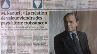 Jean-Charles Naouri, em foto do Le Monde de terça-feira, 26 de junho de 2012