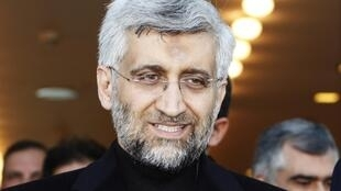 Iran's chief negotiator Saeed Jalili arrives at the Ataturk International airport, January 20, 2011