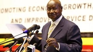 Ugandan President Yoweri Musevini speaks at the presentation of the Government Budget for the year 2011/2012