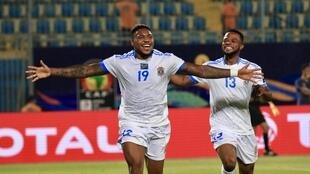Britt Assombalonga scored the final goal in Democratic Republic of Congo's 4-0 rout of Zimbabwe.