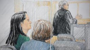 Bà Mạnh Vãn Châu (Meng Wanzhou), giám đốc tài chính của Hoa Vi (Huawei) tại tòa án ở Vancouver, Canada, ngày 07/12/2018
