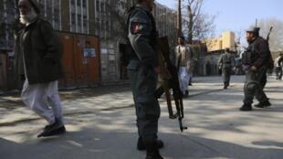 Афганские полицейские на улицах Кабула