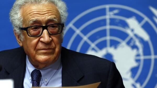 Le médiateur de l'ONU, Lakhdar Brahimi.