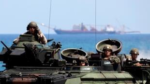 Hải quân Mỹ trong một cuộc tập trận với quân đội Philippines tại tỉnh Zambal. Ảnh tư liệu chụp ngày 11/04/2019.