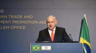 Inauguração do escritório de negócios da Agência Brasileira de Promoção de Exportações e Investimentos em Jerusalém pode ajudar politicamente Netanyahu.