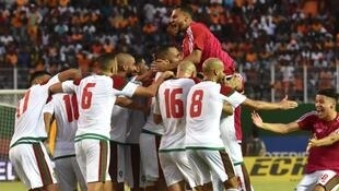 La joie des Marocains après leurs qualification au Mondial aux dépens de la Côte d'Ivoire.