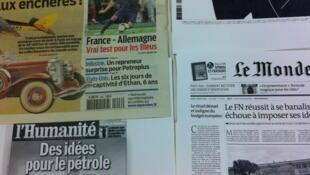 Primeiras páginas diários franceses 6/2/2013