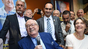 Front National cofounder Jean-Marie Le Pen in Marseille on Saturday