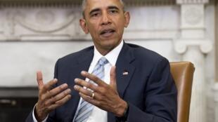 Le président américain Barack Obama, à la Maison Blanche, le 17 février 2016.