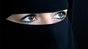 Woman in niqab. Denmark has now banned women from wearing any full-face veils.