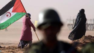 Apoiante da Frente Polisário.