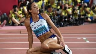 Katarina Johnson-Thompson set a British record points haul in her heptathlon win at the 2019 world championships.