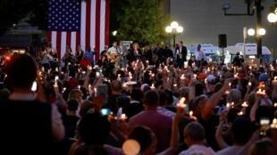 Акция памяти по погибшим в результате стрельбы в Огайо 4 августа