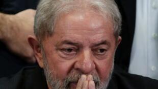 O ex-presidente Luis Inácio Lula da Silva poucos dias antes de ser preso.