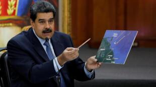 Le président vénézuélien Nicolas Maduro lors d'une conférence de presse le 9 janvier 2019 à Caracas.