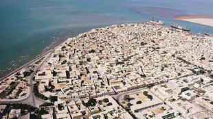Fotografía aérea de Bushehr  en 1973.