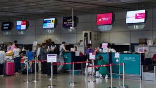 L'aéroport de Hong Kong, le 7 janvier 2018. (Photo d'illustration)