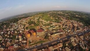 Northern corridor road from Kampala to Gulu at Matugga Town in Wakiso District