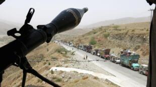 Point d'observation de l'armée au Waziristan du Nord, 22 juin 2014.