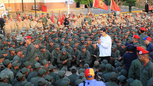 Tổng thống Venezuela Nicolas Maduro tham dự một buổi lễ tại một căn cứ hải quân ở Catia La Mar, ngày 14/05/2019.
