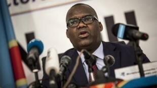 Le président de la Commission électorale congolaise (CENI) de RDC, Corneille Nangaa, le 5 novembre 2017 à Kinshasa.