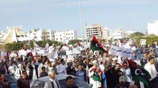 Biểu tình tại Tripoli Libya phản đối các nhóm vũ trang địa phương, 15/11/2013