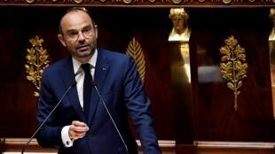 Crisis management: French PM Edouard Philippe.