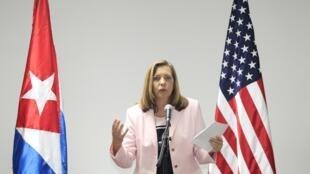Nhà ngoại giao Cuba Josefina Vidal phụ trách đàm phán với phía Mỹ.