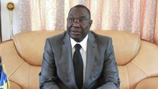 Michel Djotodia lors d'une conférence de presse à Bangui en décembre 2013.