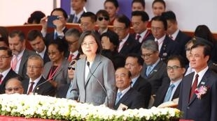 Tổng thống Đài Loan Thái Anh Văn đang là mục tiêu các đợt tấn công loan tin sai lệch của Bắc Kinh. Ảnh minh họa.