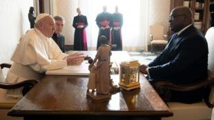 Le pape François a reçu le président congolais Félix Tshisekedi au Vatican ce 17 janvier 2020.