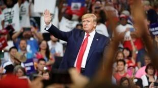 Le président Donald Trump annonce officiellement sa candidature à la prochaine présidentielle américaine de 2020, le 18 juin 2019 au Amway Center, à Orlando, en Floride.