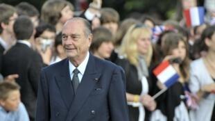Jacques Chirac en juin 2010 à Paris lors de la commémoration de l'Appel du 18 juin 1940.