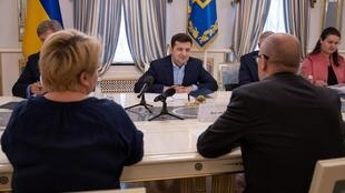 Президент Зеленский на встрече с представителями Международного валютного фонда. Киев. 28.05.2019