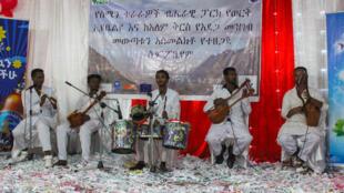 Des musiciens locaux dans le Parc National Simien.