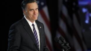 Le perdant de l'élection Mitt Romney lors de son discours d'après-défaite, à Boston.