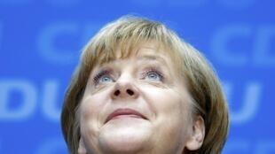 Angela Merkel, este 23 de septiembre en la sede de la CDU.