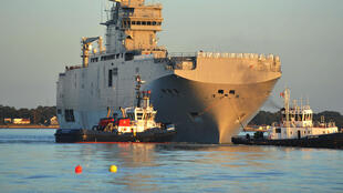 The Mistral-class helicopter carrier Vladivostok