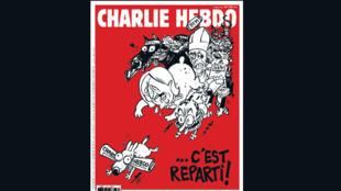 capa de sua segunda edição após os atentados, que chega às bancas nesta quarta-feira (25).