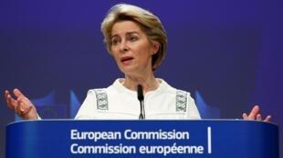 Chủ tịch Ủy Ban Châu Âu Ursula von der Leyen trong cuộc họp báo tại Bruxelles, Bỉ, ngày 04/12/2019