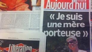 Primeiras páginas diários franceses 31/1/2013