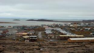 Le hameau inuit de Kugluktuk au Nunavut, une région qui borde l'océan Arctique, le 17 septembre 2015.