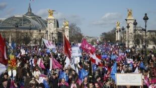 Manif Pour Tous, Paris, 2 February 2014.