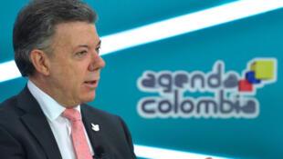 El presidente J.M. Santos al anunciar en la emisión 'Agenda Colombia' el proyecto de corredor ecológico en América del Sur.