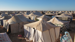 Gdim Izik protest camp before it was demolished by Moroccan security forces in 2010