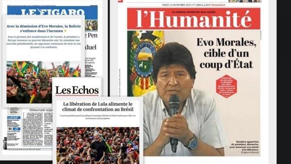 A imprensa francesa analisa nesta terça-feira (12) a crise política na Bolívia e o retorno de Lula à cena política no Brasil.