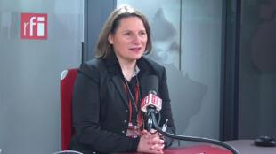 Valérie Rabault, députée de Tarn-et-Garonne, présidente du groupe socialistes et apparentés à l'Assemblée nationale sur RFI, le 13 février 2020.