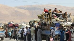 Syria refugeees in Lebanon's Bekaa valley